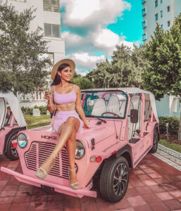 pink Moke at corporate event